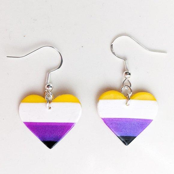 Tiny Baby Pride Flag Earrings